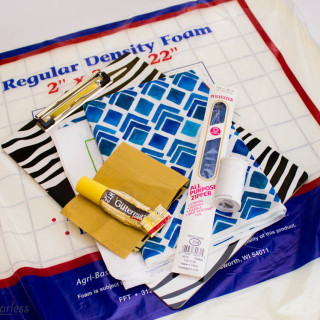 Scribble 'n' Tote Lap Desk Tutorial (featuring Modern Yardage Fabrics)