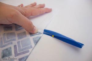 Scribble 'n' Tote Lap Desk- fold  along pocket lining - SewFearless.com