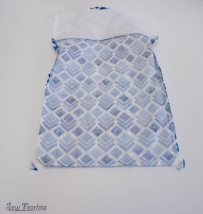 Scribble 'n' Tote Lap Desk- finishing bottom of pillow - SewFearless.com