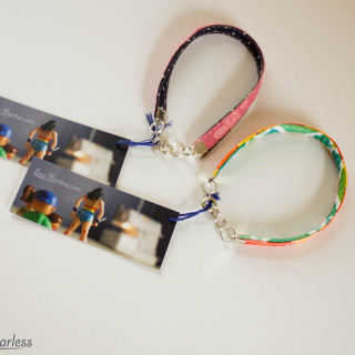 Fabric Bracelet as Sewing Souvenir