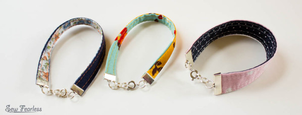 Fabric Bracelets sewn by Sew Fearless.com