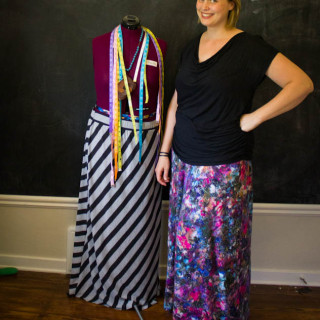 Self Drafted Maxi Skirts
