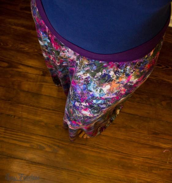 Waistband of maxi skirt - sewfearless.com
