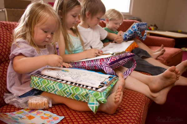 The Scribble n Tote Lap Desk by SewFearless.com - kids drawing