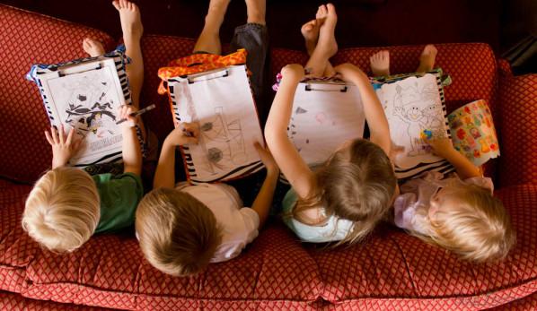 The Scribble n Tote Lap Desk by SewFearless.com - kids drawing top down
