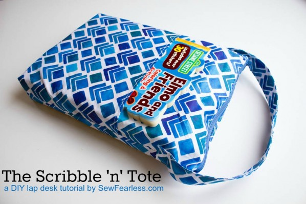 The Scribble n Tote Lap Desk by SewFearless.com -  back pocket