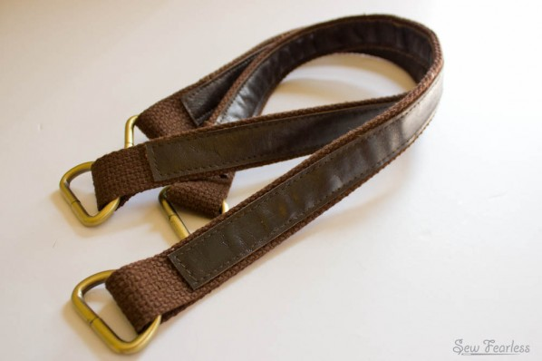 Leather and Cotton Belting Bag Strap - SewFearless.com