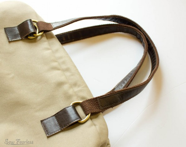 Genuine Leather and Cotton Belting Bag Handle Tutorial - SewFearless.com