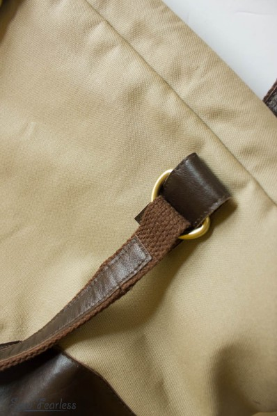 Leather tabs for attaching bag handle - sewfearless.com