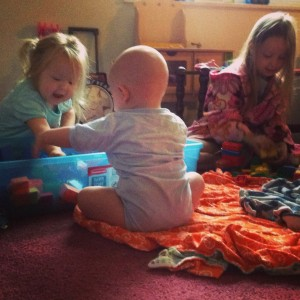 duplos and babies