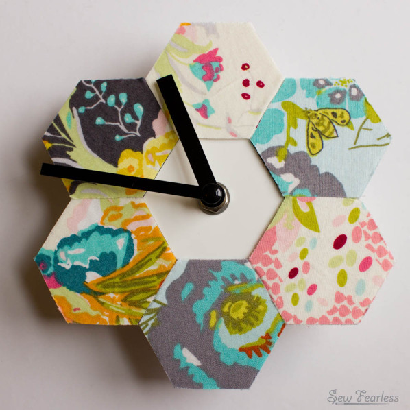 "Hexy Clock - an Ikea ""Smycke"" Wall Clock Hack by SewFearless.com"