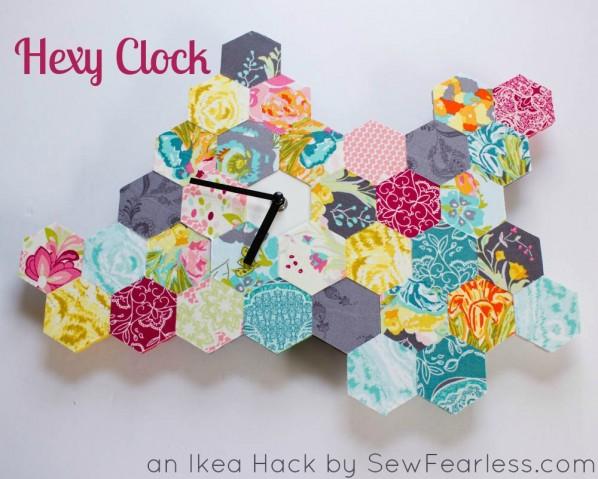 Hexy Clock - an ikea hack tutorial by SewFearless.com
