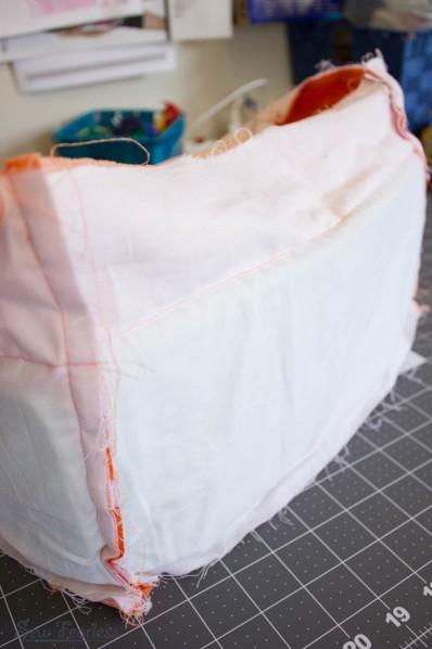 DIY camera bag, foam in lining - SewFearless.com