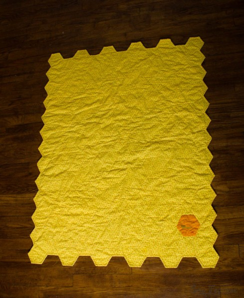Hexagon Quilt, back