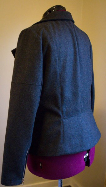 Style Arc, Ziggi Moto Jacket in wool melton, sewing by SewFearless.com