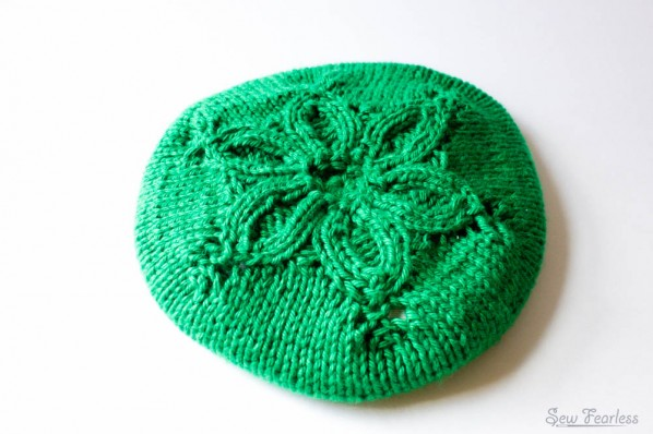 Little Flower Hat Pattern, knit by sew fearless.com,