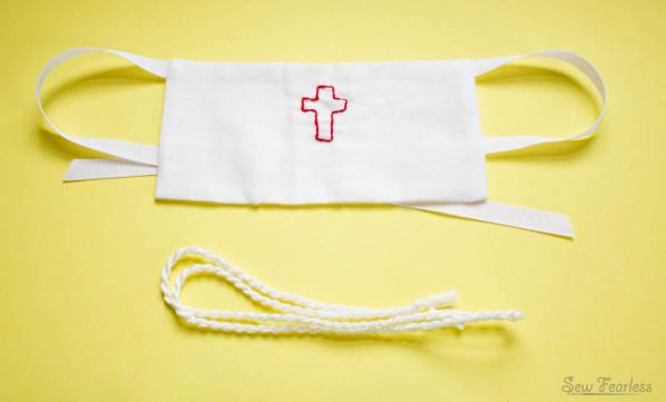 Amice and Cincture- Miniature Catholic Priest Vestments