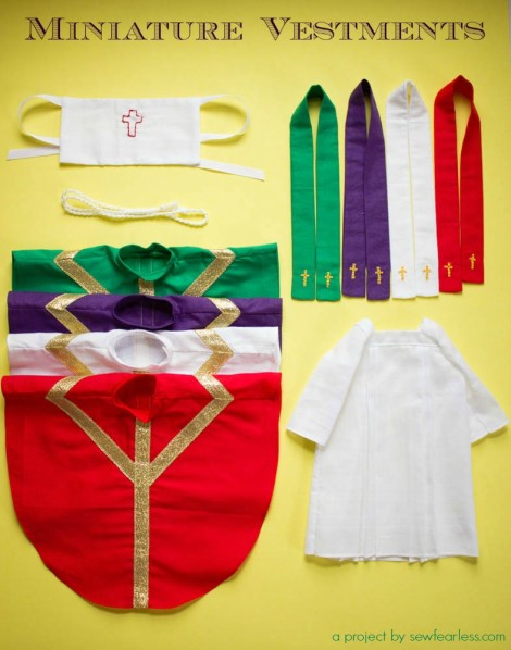 Miniature Catholic Priest Vestments