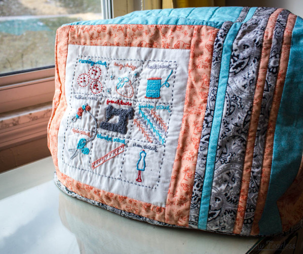 Embroidered and Quilted Sewing Machine Cover - sew fearless.com