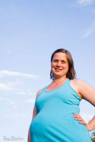 DIY maternity - Jalie Raceback Tank
