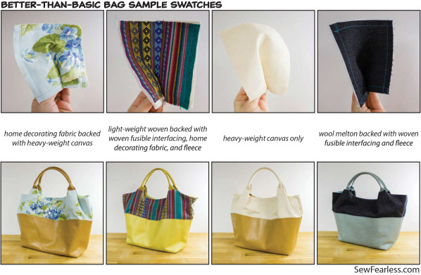sample swatches for the Better-Than-Basic Bag