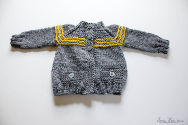 Carousel baby cardigan - pattern by Lisa Chemery, sewn by Sew Fearless