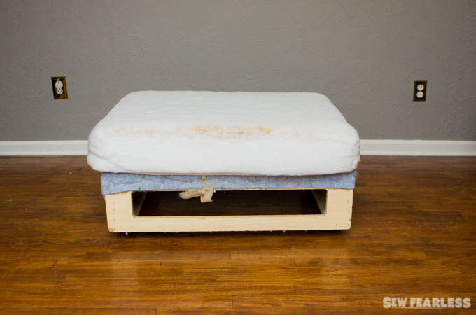 DIY Upholstery Leather Ottoman Tutorial